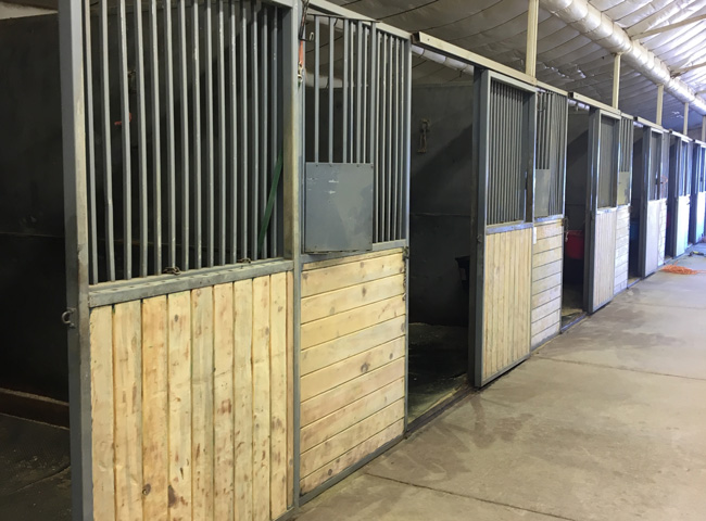 Skyview Farm Indoor Stalls for Horse Boarding